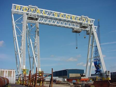 Gantry crane Koninklijke Schelde Groep - Vlissingen