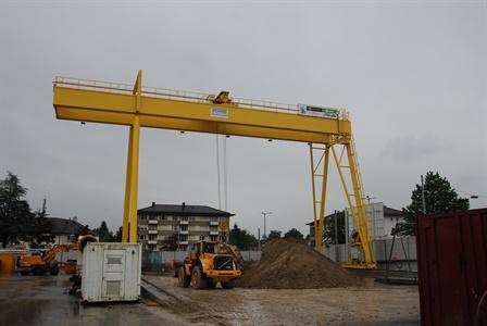 Gantry crane - Weinberg Tunnel Zürich Zwitserland - Zürich Zwitserland