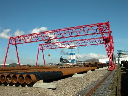 Gantry crane - Arbed damwand / Arcelor - Moerdijk