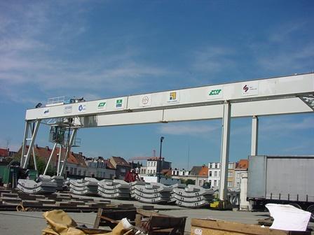 Portaalkraan Asdam tunnel - Antwerpen