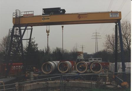 Gantry crane Keller Grundbau - Offenbach - Essen